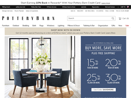 Pottery Barn shopping