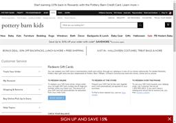 Pottery Barn Kids gift card balance check