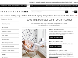 Pottery Barn Teen gift card purchase