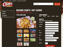 Raising Cane's gift card purchase