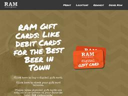 Ram Restaurant & Brewery gift card purchase
