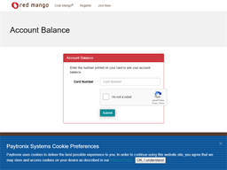 Red Mango gift card balance check