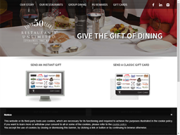 Restaurants Unlimited Physical gift card purchase