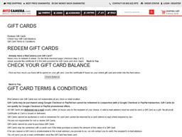 Ritz Camera gift card balance check