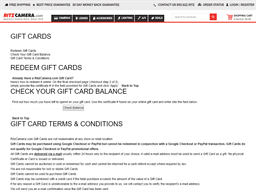 Ritz Camera gift card purchase
