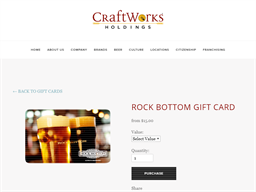 Rock Bottom Brewery gift card purchase