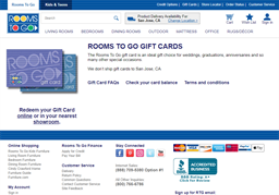 Rooms To Go gift card purchase