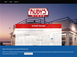 Ruby's Diner gift card balance check