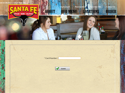 Santa Fe Cattle Co. gift card balance check