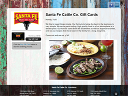Santa Fe Cattle Co. gift card purchase