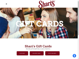 Shari's Cafe gift card purchase