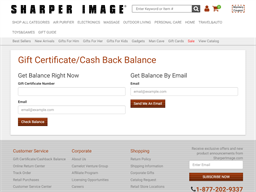 The Sharper Image gift card balance check