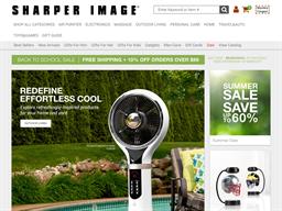 The Sharper Image shopping