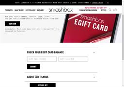 Smashbox gift card balance check