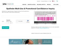 Spa Finder Gift Card gift card balance check