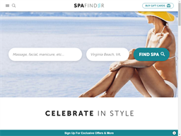 Spa Finder Wellness 365 shopping