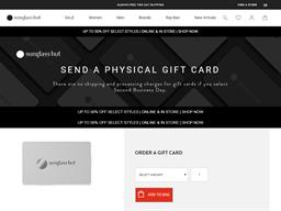 Sunglass Hut gift card balance check