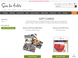 Sur La Table gift card balance check