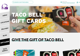 Taco Bell gift card purchase