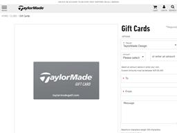 TaylorMade Golf gift card balance check