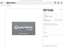TaylorMade Golf gift card purchase