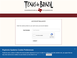 Texas de Brazil gift card balance check