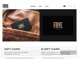 FRYE gift card balance check