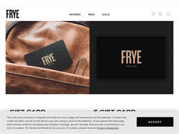 FRYE gift card purchase