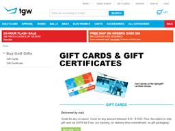 The Golf Warehouse gift card balance check