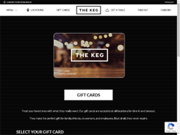 The Keg Steakhouse gift card balance check