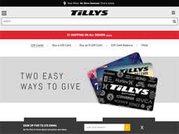 Tilly's gift card purchase