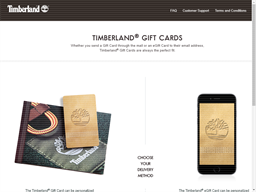Timberland gift card purchase