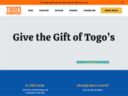 Togo's gift card purchase