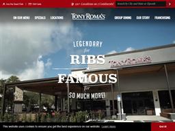 Tony Romas shopping