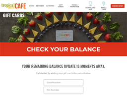 Tropical Smoothie Cafe gift card balance check
