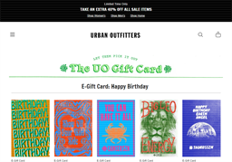 Urban Outfitters gift card purchase