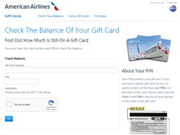 US Airways gift card balance check