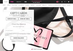 Victoria's Secret gift card balance check