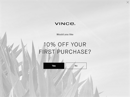 Vince shopping