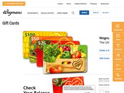 Wegmans gift card balance check