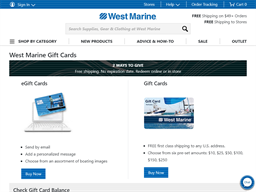 West Marine gift card balance check