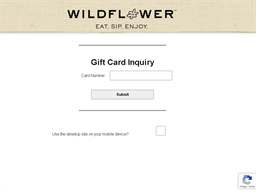 Wildflower Bread Company gift card balance check
