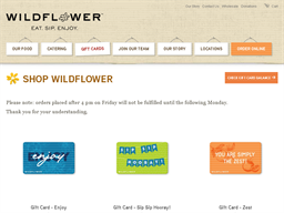 Wildflower Bread Company gift card purchase