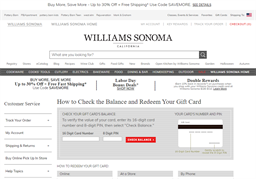 Williams Sonoma gift card balance check