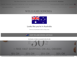 Williams Sonoma shopping