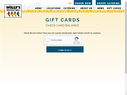 Willy's Mexicana Grill gift card balance check