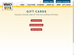 Willy's Mexicana Grill gift card purchase