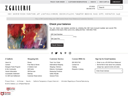 Z Gallerie gift card balance check