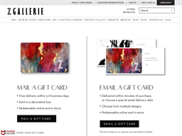 Z Gallerie gift card purchase