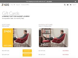 Zagg gift card purchase